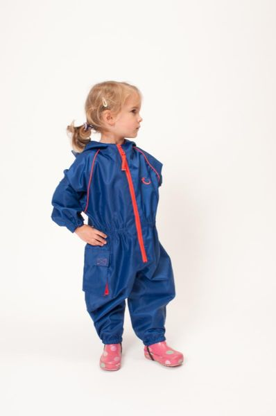 NEW Hippychick Waterproof Blue Fleece Lined All in One Suit